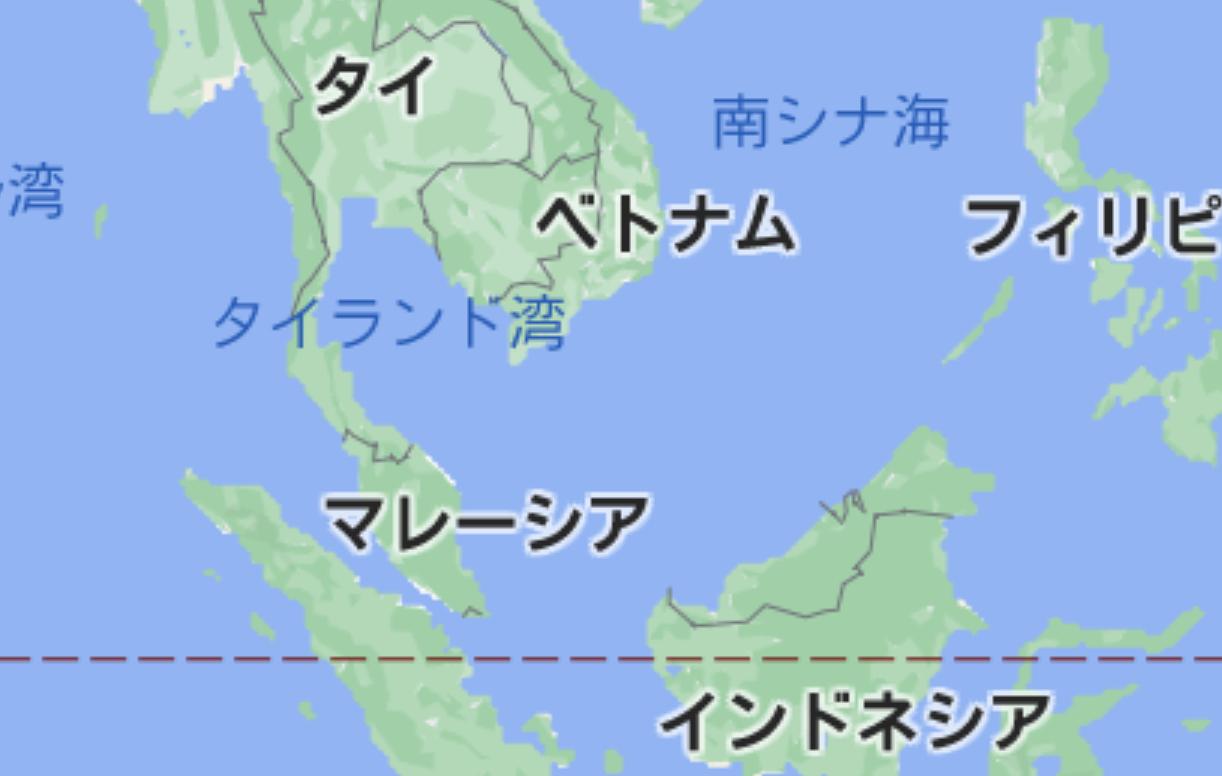 マレーシアの位置